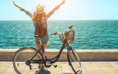 Aprender a montar en bicicleta en verano.